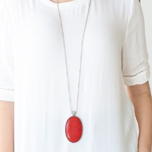Paparazzi Red Crackle stone necklaces